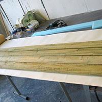 Fake wood plank