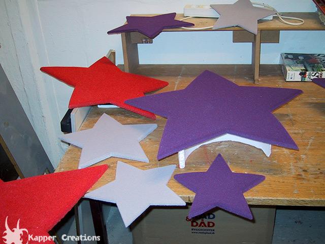 Flocked stars